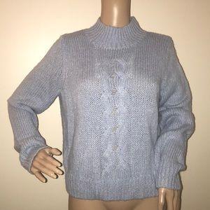 Madewell chunky knit sweater mock turtleneck NWT S